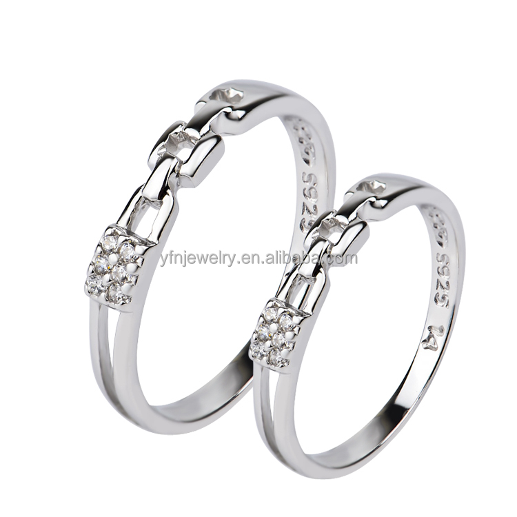 Latest Wedding Ring Designs Delicate Silver Sweet Couple Rings For ...