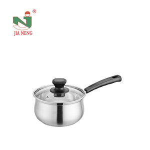 Wholesale stainless steel milk cooking pot sauce pan stock pot with glass cover