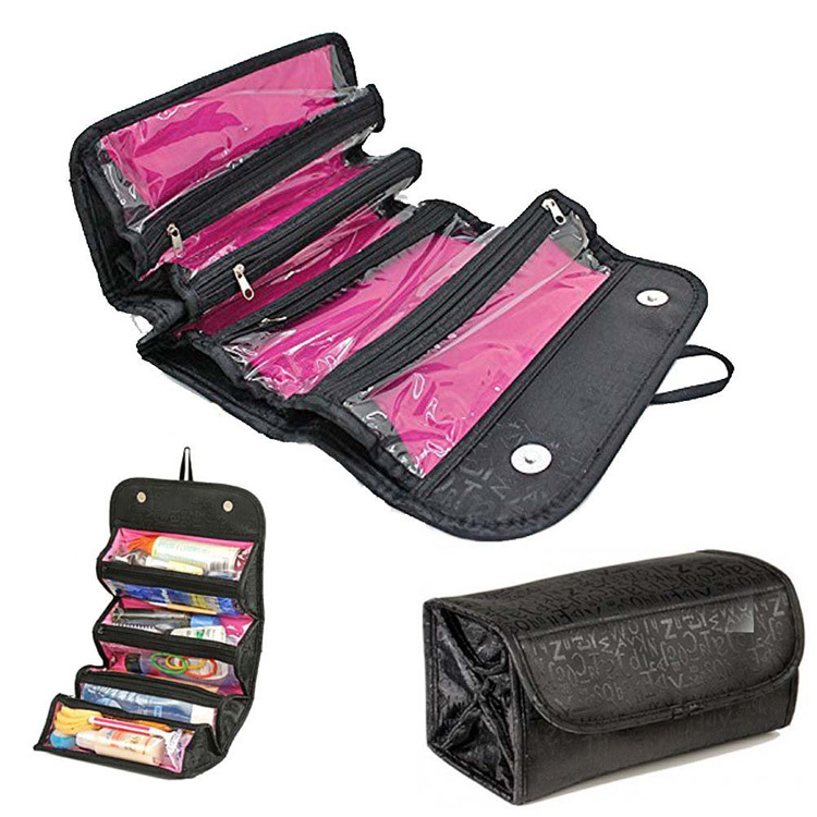 Avon Professional Toiletry Roll Up Cosmetic Bags Travel Organizer Makeup Bag