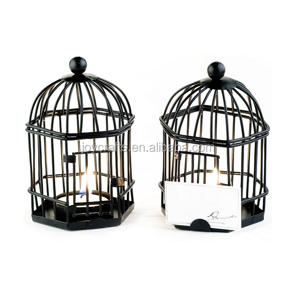 Love Songs Tea Light Place Card Holder Black Decorative Bird Cages Wholesale