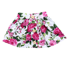AU style infant toddle girls summer clothes skirts rose baby floral buttons up skirts