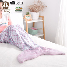 All Seasons Cozy Soft Mermaid Blanket Tail Knitted Mermaid Blanket for Kids Mermaid Blanket Fleece for Baby
