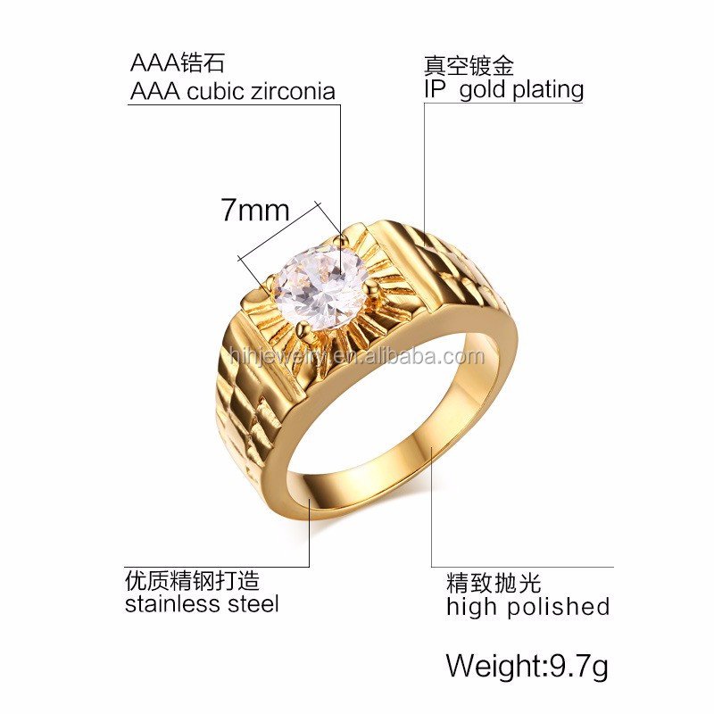 Stainless Steel Stone Ring Designs For Men Gold Ring Designs For