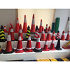 Lower factory price 50 70mm EVA flexible traffic cone with rubber base