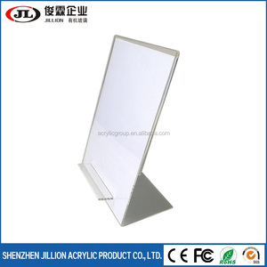 Cheap Insert Paper A4 Acrylic Sign Holder Display Stand