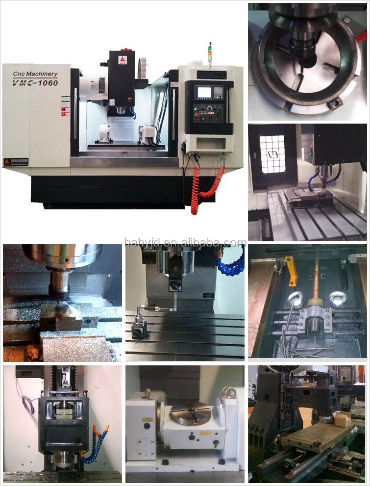 VMC1060 3 axis vertical cnc milling machine with Mitsubishi controller,cutting metal parts