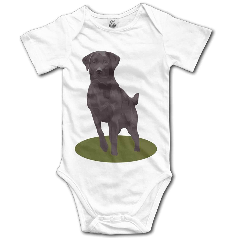 Cute Chocolate Labrador Retriever Dog Baby Romper Bodysuit TooLoud I Heart My