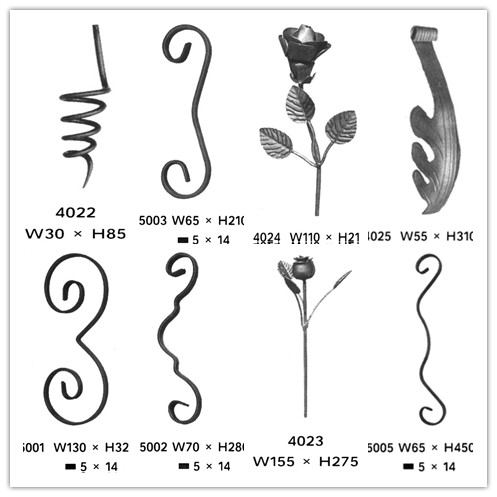 creative wrought iron piles and flowers for fencing gates and stairs in good prices
