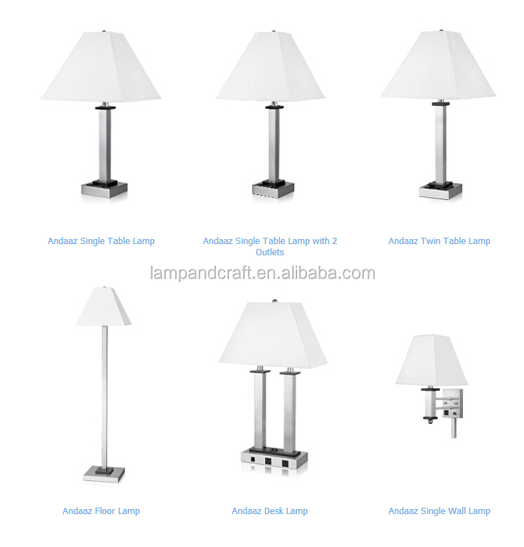 ul power outlet hotel twin table lamp with usb for nightstand lamps