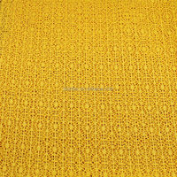Knitted hollow fabric of polyester hollow needle 100%T thick needle fabric jacquard knitting Ladies Orange hollow fabric