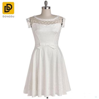 dc7775286518 2017 Wholesale New Design White Semi Formal Dance Latex Dress - Buy ...