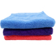 Coral fleece micro fiber cleaning towels 16x16