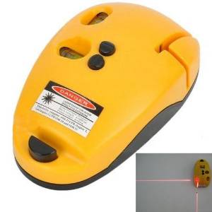 2-Line Laser Level Meter Mouse Type Right-angle Level Marking Device Rectangular Marker - Yellow