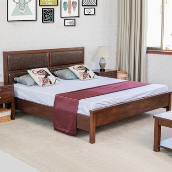 Attractive Latest Wood Antique Double Bed Designs Leather High Back Designer Wooden  Double Bed