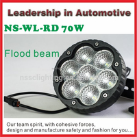 NSSC 12volt led light 70w offroad led work light for atv suv tractor motorcycles