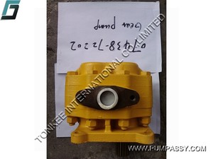 High quality hydraulic parts D355A-3 SD42 gear pump,Steering pump for dozer 07438-72202