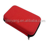 Top quality carry travel fabric hard shell hair dryer eva tool case ,with mesh pocket