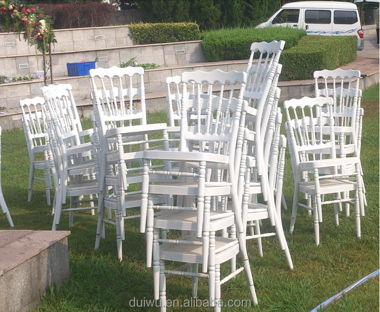 Factory simple style hot selling hotel white chairs poland