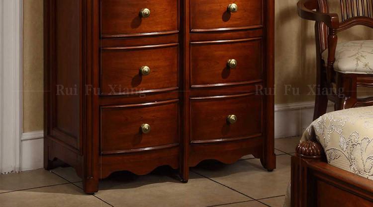 Ladekast Slaapkamer Hout : Amerikaanse klassieke houten ladekast met houtsnijwerk voor