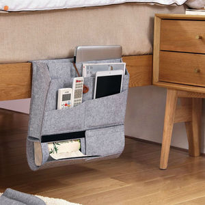 2019 hot sale custom felt sofa arm rest organizer felt desk organizer under bed shoe organizer