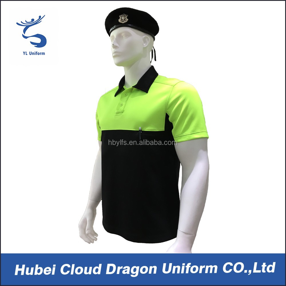 Dry Fit Male Traffic Police Work Shirt Two Tone Polo T Shirt Buy