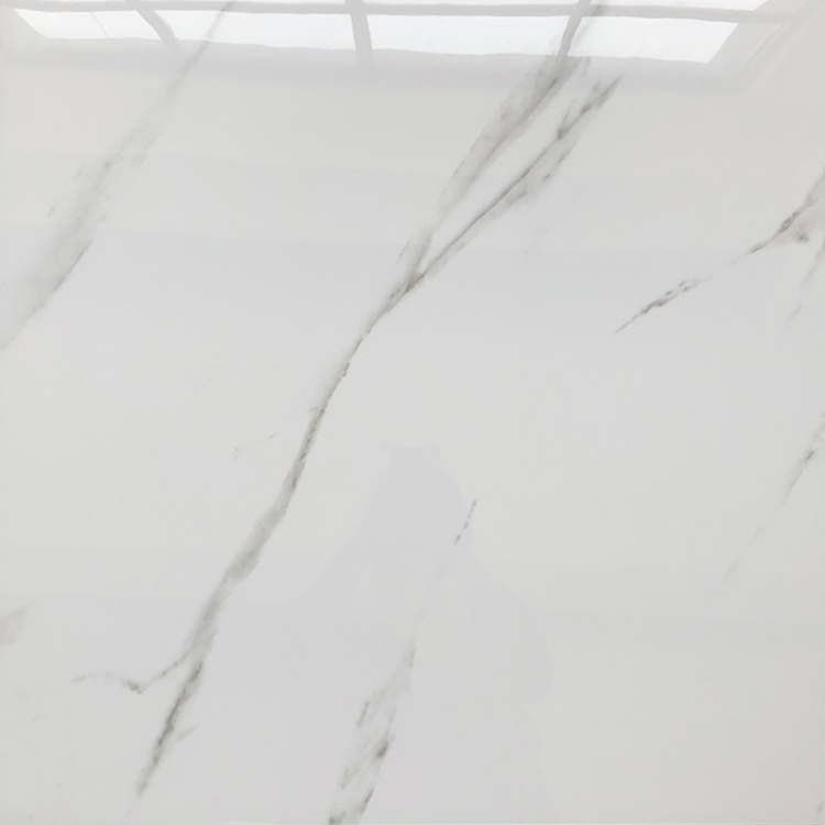 White Synthetic Carrara Grey Marble Tiles Gres Porcelain Sparkle Quartz Floor Tiles