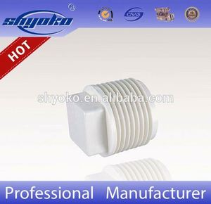 pvc pipes and fittings plug pvc fiittings threaded plastic pvc pipe fitting