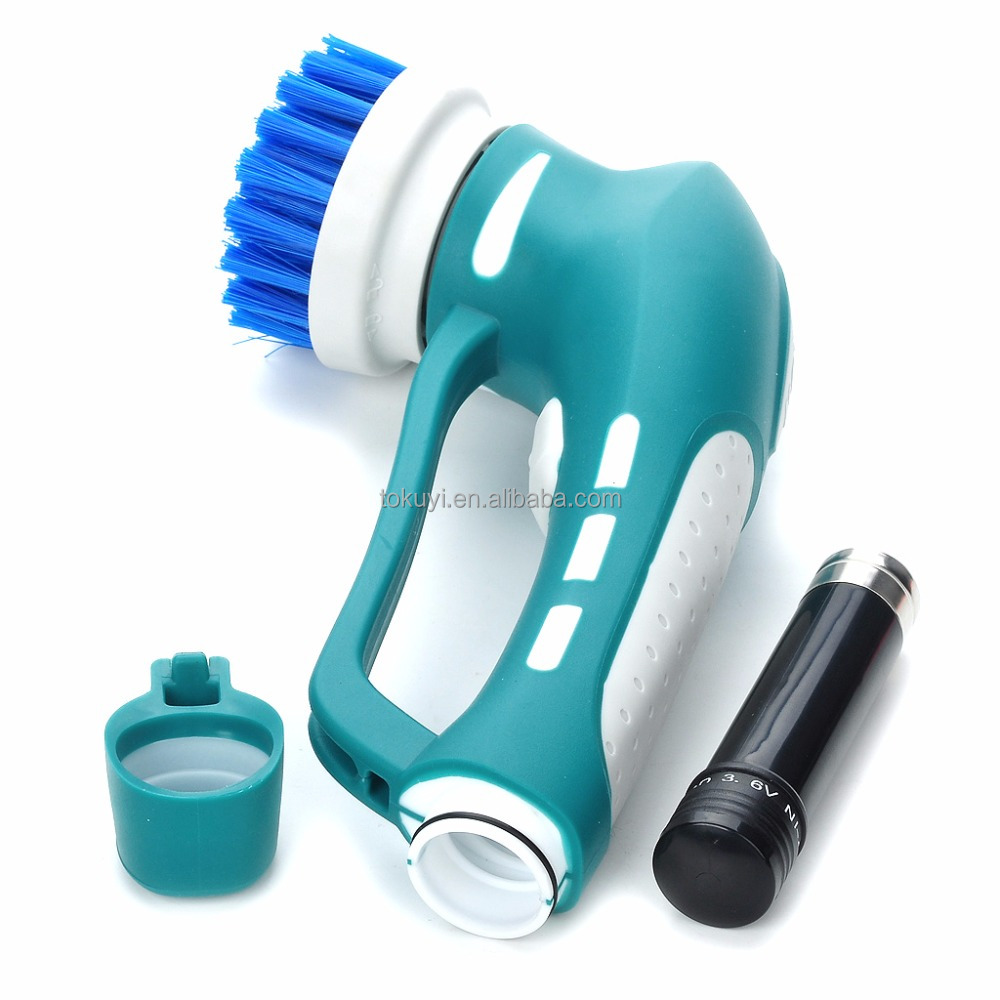 2016 As seen on TV Multifunctional hand held power scrubber with different cleaning brushes