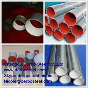 a & a manufacturer plastic coated steel pipe for assembly line of pipe rack system