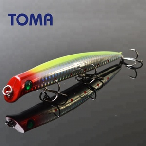TOMA 125mm 15g Minnow Hard Bait Plastic Fishing Lures Floating 3 Treble Hooks Pencil Sea Bass