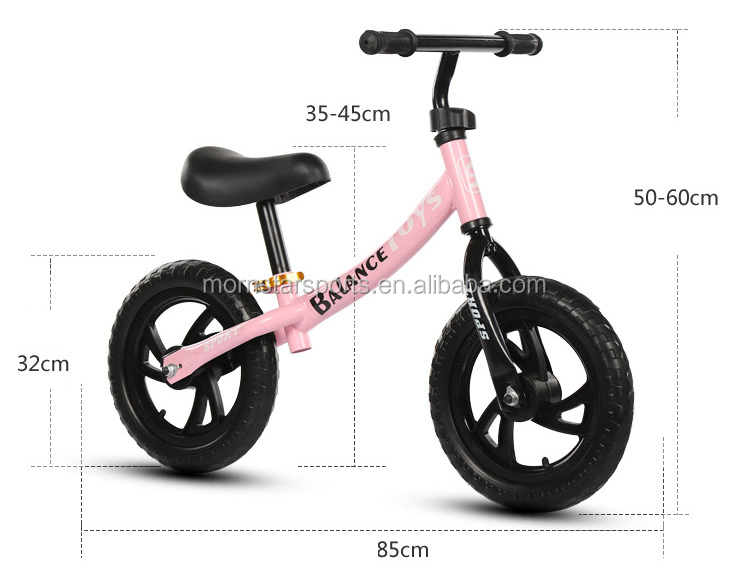 Kids First Learning Training Metal Balance Bicycle Bike Children Gift