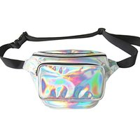 Women Holographic Fanny Pack Shopping Waist Bag Woman Bum Bag Running Hiking Hip Pack