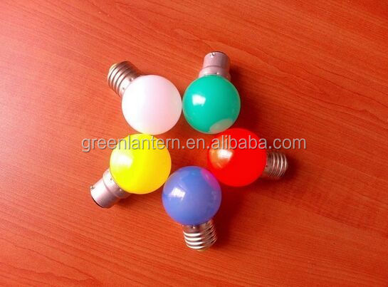 G45 Color LED Bulb 0.5W E27 Mini Decorative LED Bulb 360Degree Colorful Red Green Yellow Blue Pink <strong>Orange</strong>