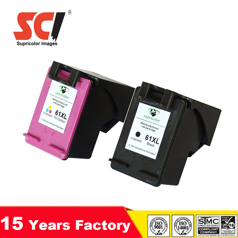 on sale 29061 31e5d Aliexpres china high quality no color deviation compatible for hp 61 XL ink  cartridges