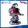 fashionable 360 angles rotating battery powered battle king playground robot fibreglass machine factroy direct sale