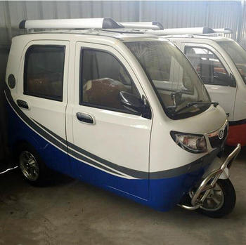 New Style Three Wheel Four Door ElectricTricycle For Passenger