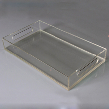 Lucite tray clear rectangle acrylic tray with insert