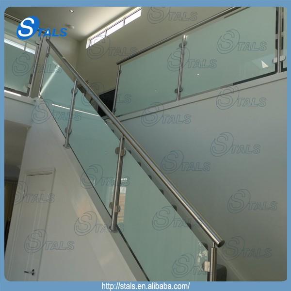 Round post balcony stainless steel railing design balcony guarding