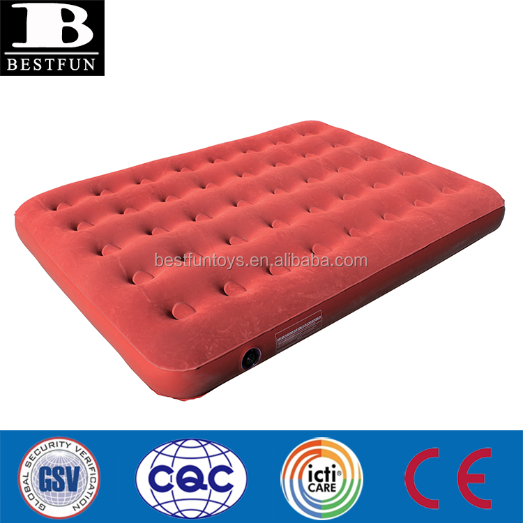 Heavy Duty Air Mattress >> Heavy Duty Inflatable Velour Air Mattress Durable Comfort Flocked Surface Blow Up Twin Size Bed Portable Camping Airbed Buy Velour Air Mattress Twin
