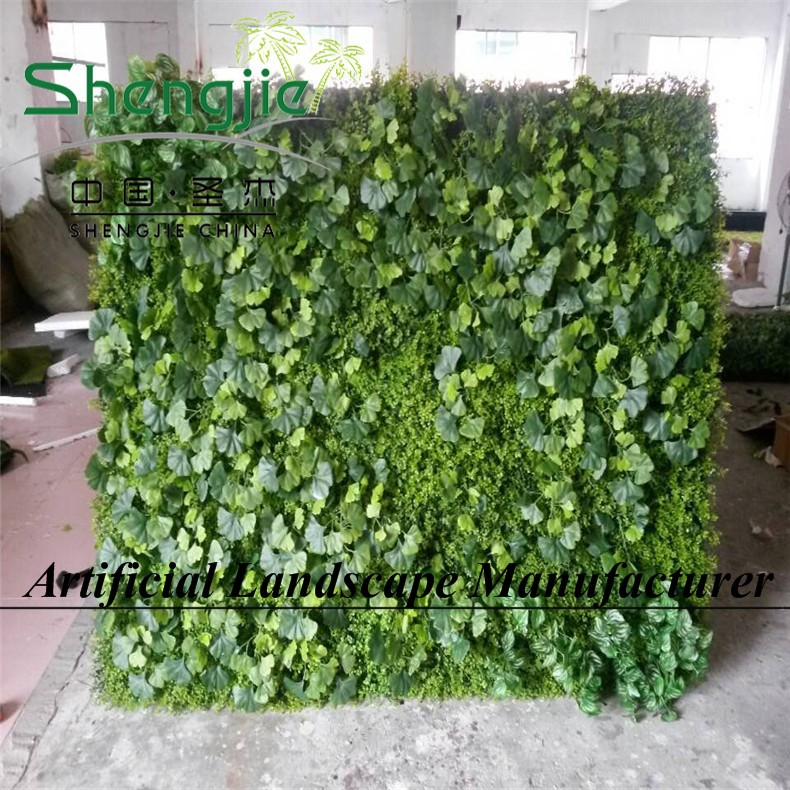 China sjyh851 producten verticale wanden plastic planten kunstmatige groene muur verticale wand - Muur tuin ...