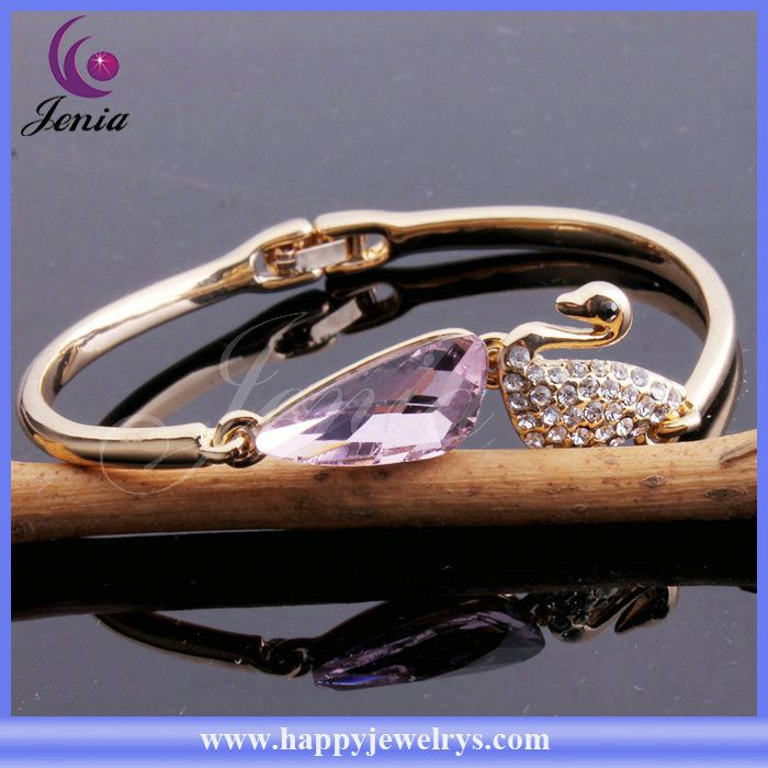 Unique design ! china supplier wholesale fashion 18k gold plated bracelet infinity bangle YWB4359-6