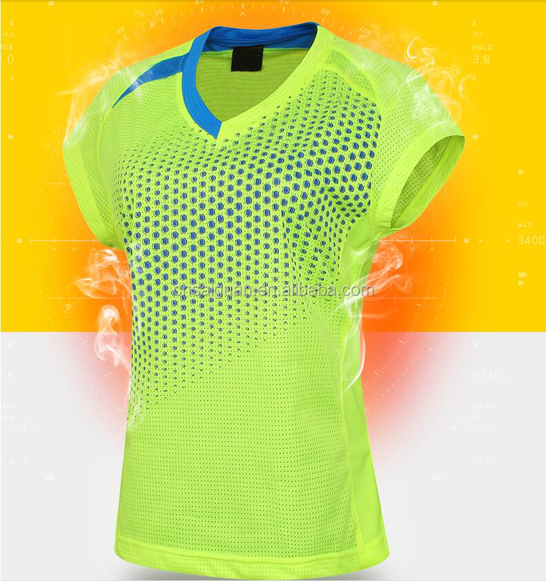 Men women unisex sportswear jersey quick dry tennis badminton wear jersey volleyball jersey