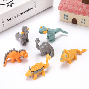Developing kids' intelligence self-assembly plastic dinosaur, model plastic dinosaur toy for kids collection, Candy Gift