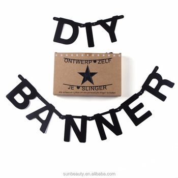 paper letter banner garland happy birthday party banner diy bunting