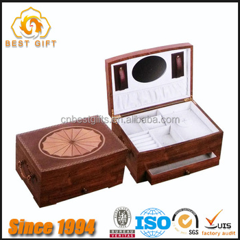 TOP Supplier High End Luxury Burl Wood With Inlaid Watch Storage Jewelry Box  For Men