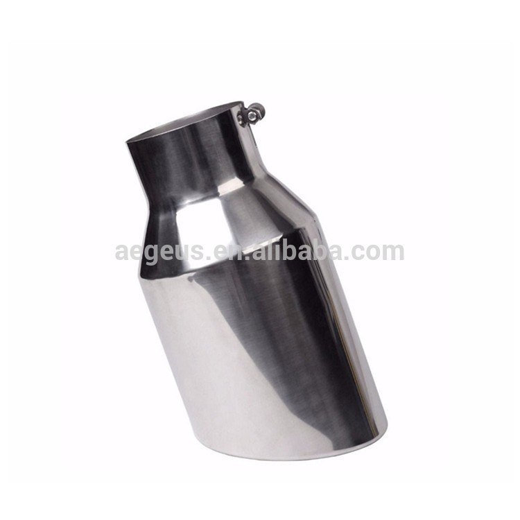 15 Diesel Exhaust Tip 5 ID 8 OD Rolled Slant 20/° Bolt On Exhaust Muffler Pipe