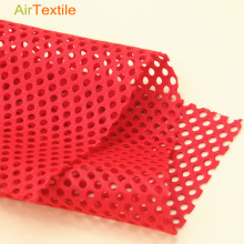 100% polyester double layer circular mesh style elastic athletic mesh fabric