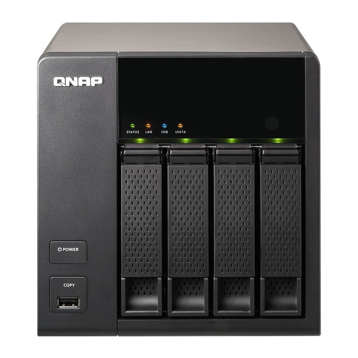 QNAP TS-420 4-bay Personal Cloud NAS, DLNA, Mobile App, iSCSI Supported