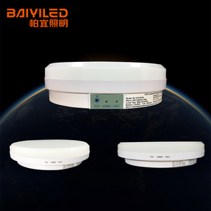 Emergency Rechargeable Round Acrylic Cover Led Semi Flush Ceiling Light