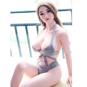 158cm 5.18ft lifelike big breast full size japanese solid silicone adult sex doll 3d for Men